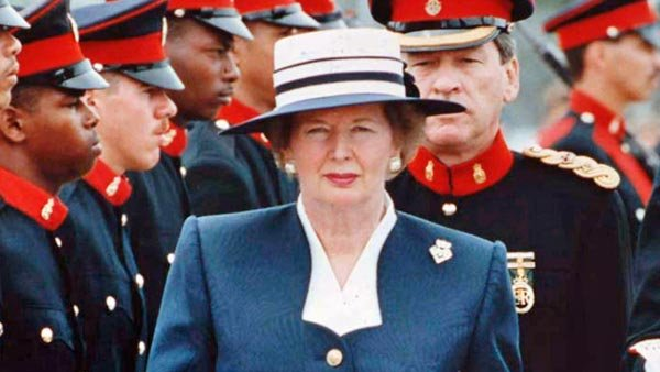 "Margaret Thatcher was given the nickname ""Iron Lady"" for her firm resolve and unwavering course in the face of opposition. (Source: Wiki Commons/Happyme22)"