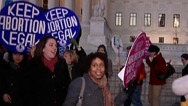 Despite the legalization of abortion 40 years ago, pro-choice protesters have had a lot of reasons to protest. (Source: WMBF)