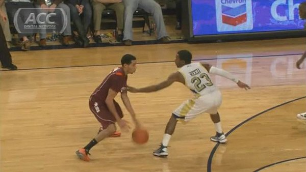 Virginia Tech's Erick Green, left, leads the nation in scoring. (Source: ACC Digital Network)