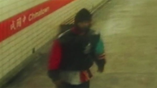 A man captured by police in Philadelphia was caught on tape attacking a woman and throwing her on to subway tracks. (Source: WPVI/CNN)