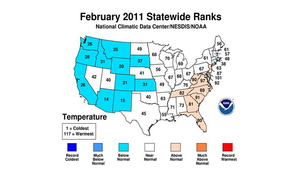 (Source: National Oceanic and Atmospheric Administration's National Climatic Data Center)