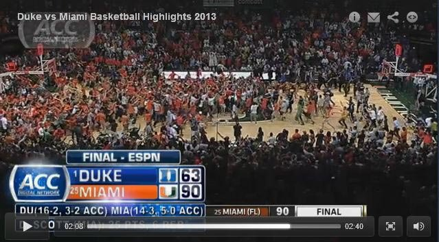 Miami's 27-point destruction of No. 1 Duke is called an upset, but it really wasn't if you've been paying attention. (Source: ACC.com)