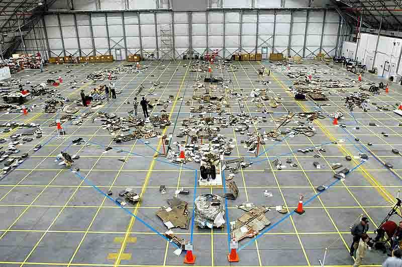 Debris from the Space Shuttle Columbia is collected and analyzed. (Source: NASA/Wikipedia)