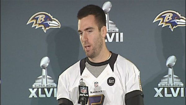 Quarterback Joe Flacco and the Baltimore Ravens will try to win the franchise's second Lombardi Trophy at Super Bowl XLVII. (Source: Cassie LeBlanc/WLOX)