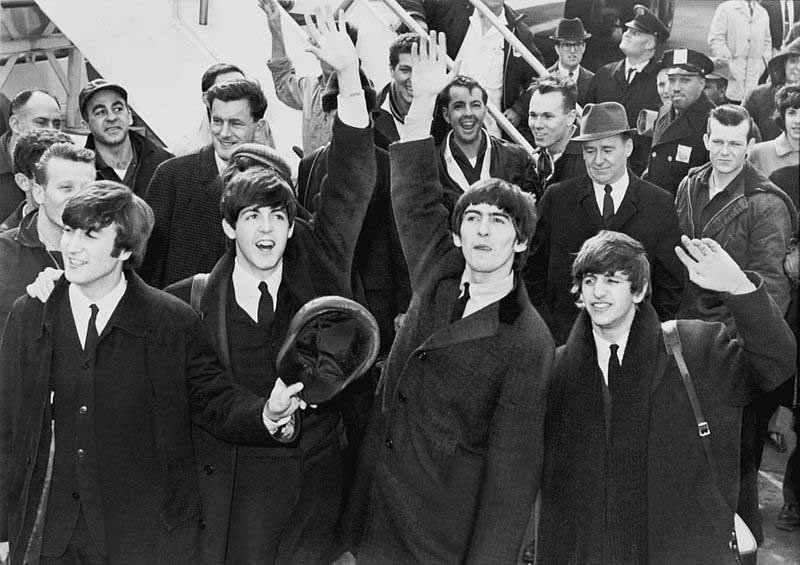 The Beatles arrive in New York City on Feb. 7, 1964. Two days later they would make their first appearance on the Ed Sullivan Show. (Source: Library of Congress/Wikipedia)