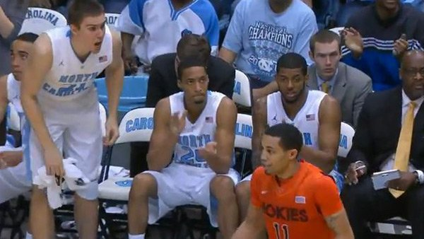 The North Carolina Tar Heels defended their court against Erick Green (11) and Virginia Tech on Saturday. (Source: ACC Digital Network)