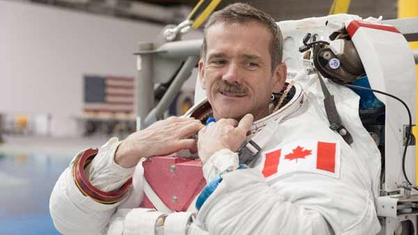 Astronaut Chris Hadfield has been making history through his social media presence and original music from space. (Source: NASA)