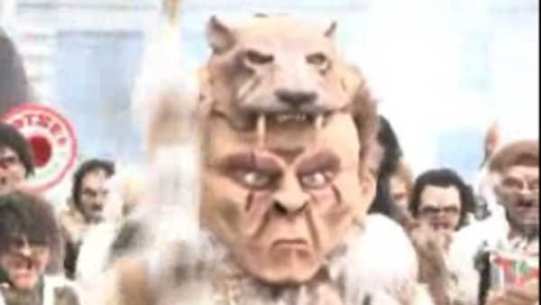 In Lucerne, Switzerland, scary masks are donned toby marchers in the centuries-old parade that marks the end of winter. (Source: CNN)