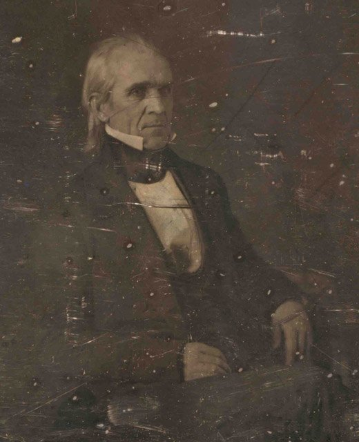 The first photograph taken of a sitting president was of James Polk on Feb. 14, 1849. (Source: Wikipedia)