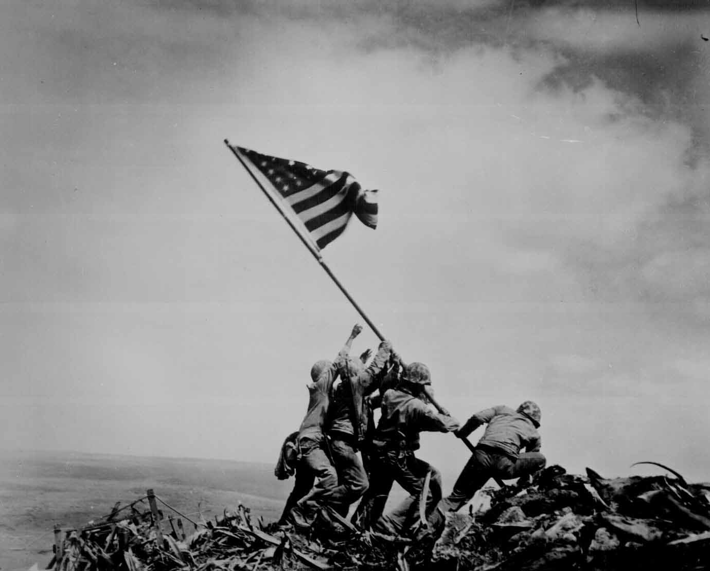This week marks the anniversary of the famous flag raising over Iwo Jima during World War II. The image was captured in this Pulitzer Prize-winning picture by Associated Press photographer Joe Rosenthal. (Source: National Archives)