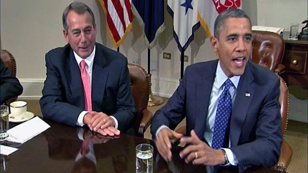 President Barack Obama and Speaker of the House John Boehner have been congenial in public appearances together, but the budget debate between their parties is as ugly as it gets. (Source: CNN)