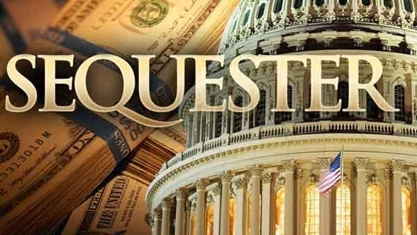 Sequester is a series of automatic, across-the-board cuts to government agencies, totaling $1.2 trillion over 10 years. (Source: CNN)