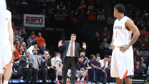 Virginia coach Tony Bennett (center) is one of many in the ACC with a family history of hoops. (Source: University of Virginia Public Relations)