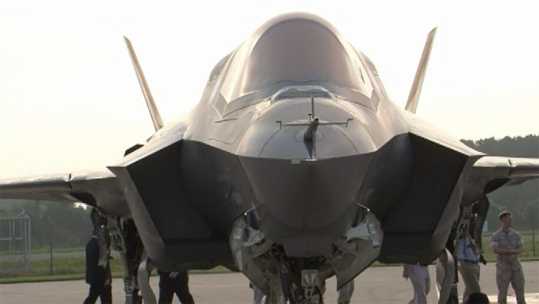 An engine blade crack in one of the jets has grounded the entire F-35 fleet being tested at three bases. (Source:WFAA/KDAF/CNN)