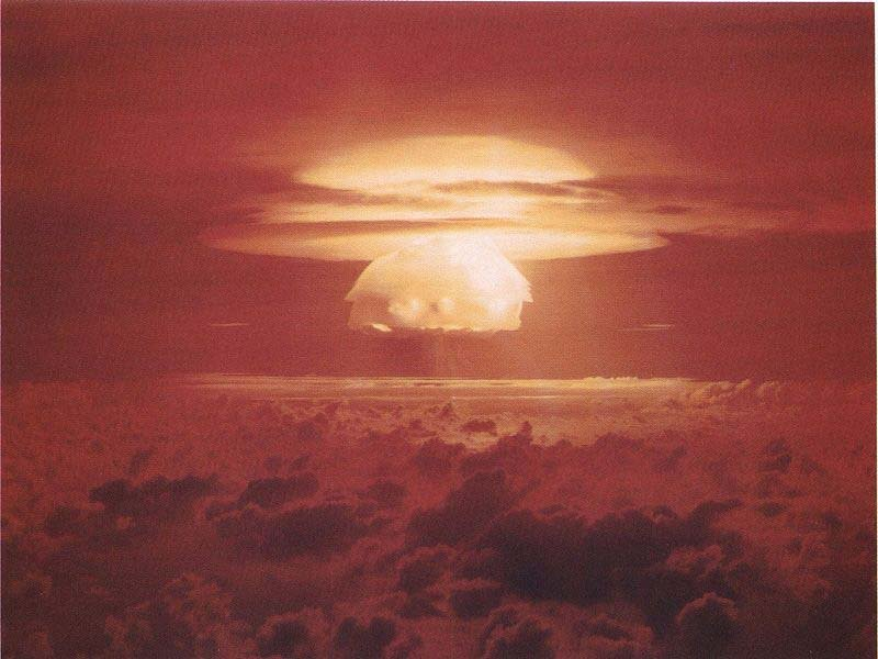 The Castle Bravo atmospheric nuclear test March 1, 1954, was the largest nuclear device ever detonated by the United States. It also caused the worst radioactive contamination in U.S. history. (Source: Department of Energy/Wikipedia)