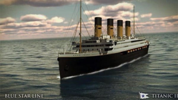 In 2016, the sight of the Titanic will become a 21st century reality in New York City. (Source: WCBS/CNN)