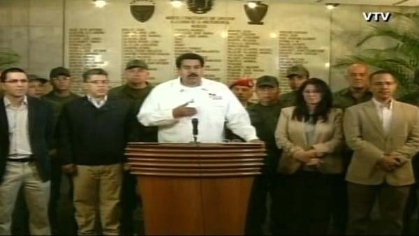Nicolas Maduro, vice president of the Republic of Venezuela, announced President Hugo Chavez died Tuesday. (Source: VTV/CNN)