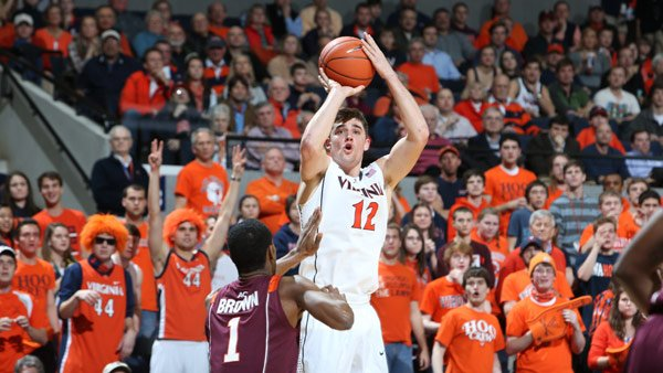 Joe Harris (12) and the Virginia Cavaliers took down No. 3 Duke in Charlottesville, VA, on Thursday. (Source: Virginia Athletics)