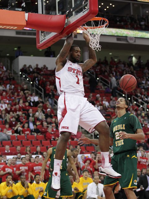 Richard Howell is one of several seniors finishing his last ACC regular season. (Source: NC State Athletics)
