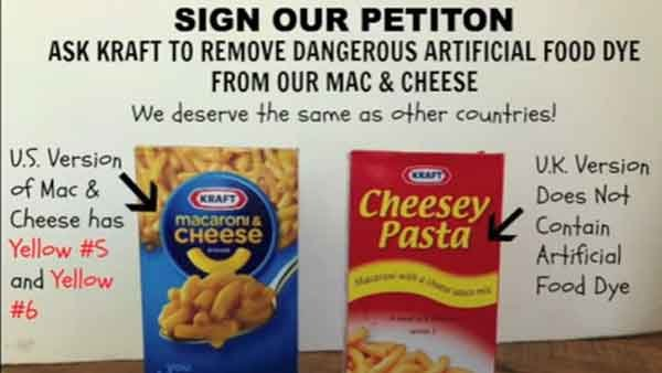 Two food bloggers from North Carolina are taking action against Kraft Foods to remove food dyes from their Mac &amp; Cheese. (Source: YouTube)