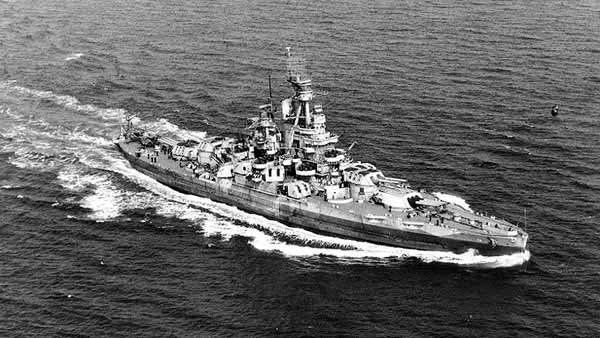 The USS Nevada, shown here, was commissioned March 11, 1916. (Source: U.S. Navy/Wikimedia Commons)