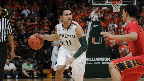 Miami Hurricanes sophomore Shane Larkin (0) is the ACC Player Power Poll Player of the Year. Your trophy is in the mail. (Source: Miami Athletics)