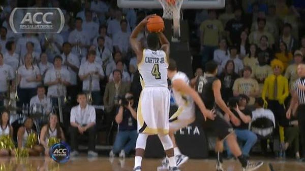 If freshman Robert Carter asserts himself and produces big for Georgia Tech, they have a chance to slip past streaking Boston College (Source: ACC Digital Network)