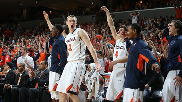 The Virginia Cavaliers hope to celebrate a second victory this season over NC State when they play them Friday in day 2 of the ACC men's basketball tournament. (Source: Virginia Athletics)