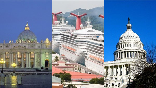 A newly-elected pope, continuing cruise ship problems, and partisan politics headlined this week's news.