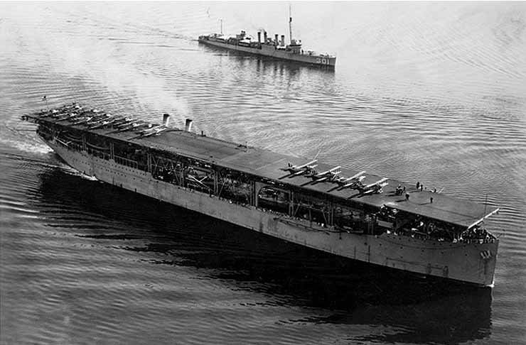 The USS Langley (CV-1) was commissioned March 20, 1922. (Source: U.S. Navy/Wikimedia Commons)