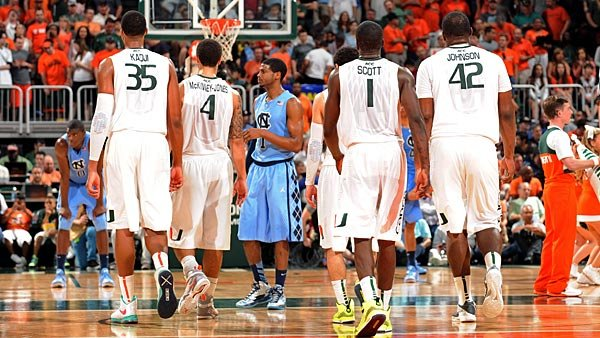 Miami and North Carolina face for a third time this season in the ACC tournament championship Sunday. (Source: Miami Athletics)