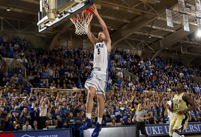 "The Blue Devils' 6'10"" senior found himself under intense scrutiny this season, with fans and critics expecting him to play like an All-American every night. (Source: Duke Athletics)"