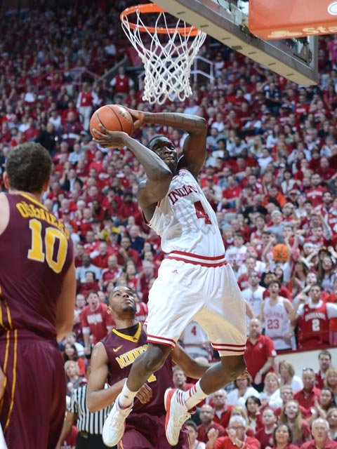 Victor Oladipo averaged 13.6 points per game and shot 59.9 percent overall and 44.3 percent from behind the 3-point arc this season. (Source: IU Athletics)