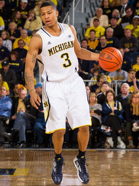 Michigan sophomore Trey Burke was named 'Sports Illustrated' national player of the year for 2012-2013. (Source: Michigan Athletics)