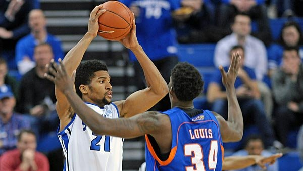 Dwayne Evans (21) has been carrying St. Louis on his shoulders all season, but especially lately when it has mattered most. (Source: St. Louis University Athletics)