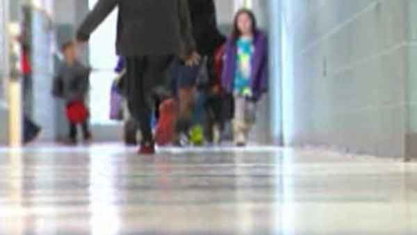 Hug ban proposed in one Maryland school district. (Source: WJLA/CNN)