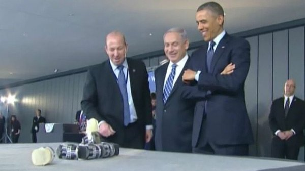 During Obama's visit with Israeli Prime Minister Benjamin Netanyahu, the two leaders reached common ground on issues such as Iran's nuclear progress and Israel's right to defend itself.  (Source: CNN/Pool)