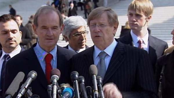 Ted Olson, right, is the lawyer challenging Proposition 8, the law banning same-sex marriage in California. Olson was the solicitor general under President George W. Bush (Source: CNN)