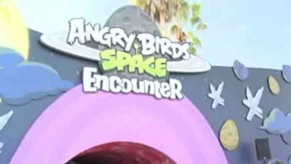 First of its kind Angry Birds Space Encounter opens at NASA's Kennedy Space Center. (Source: CNN)