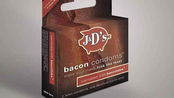 J&D's Foods introduces its new product - Bacon Condoms. (Source: Facebook)