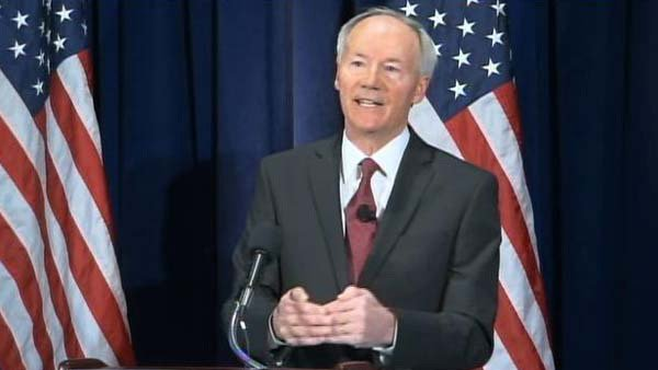 Asa Hutchinson made recommendations for school safety across America, including arming and training more on-campus officers. (Source: CNN)