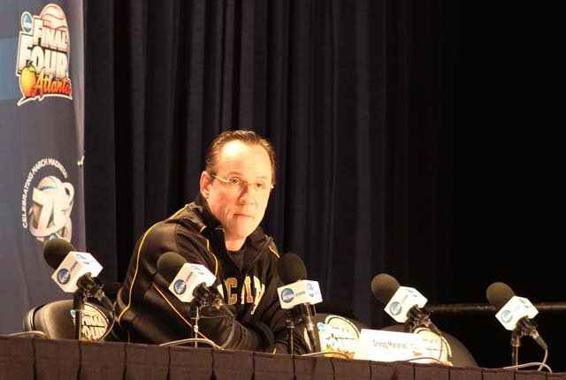 Gregg Marshall, Wichita State's head coach, discussed the difficulties of playing the Cardinals' full-court defensive press. (Source: Matt Quillen/RNN)