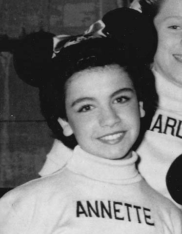 Annette Funicello joined the 'Mickey Mouse Club' in 1958. (Source: Wikipedia)