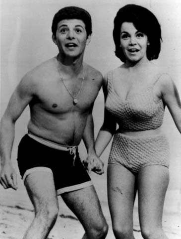 Frankie Avalon often starred with Annette Funicello in beach-the med movies. (Source: Wikipedia)