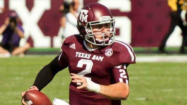 Heisman Trophy winner Johnny Manziel is back for his second season with Texas A&M, and his team's spring game will highlight ESPN's SEC coverage this week. (Source: Shutterbug459, Wikicommons)