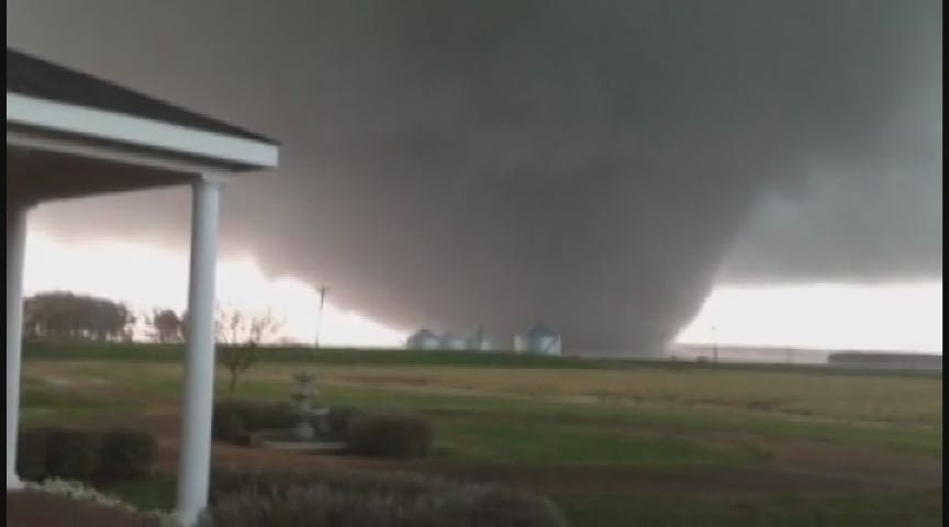 Tornado in Noxubee County, MS on Thursday. (Sou