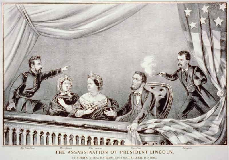 A lithograph depicting the assassination of Abraham Lincoln. (Source: Library of Congress/Wikimedia Commons)