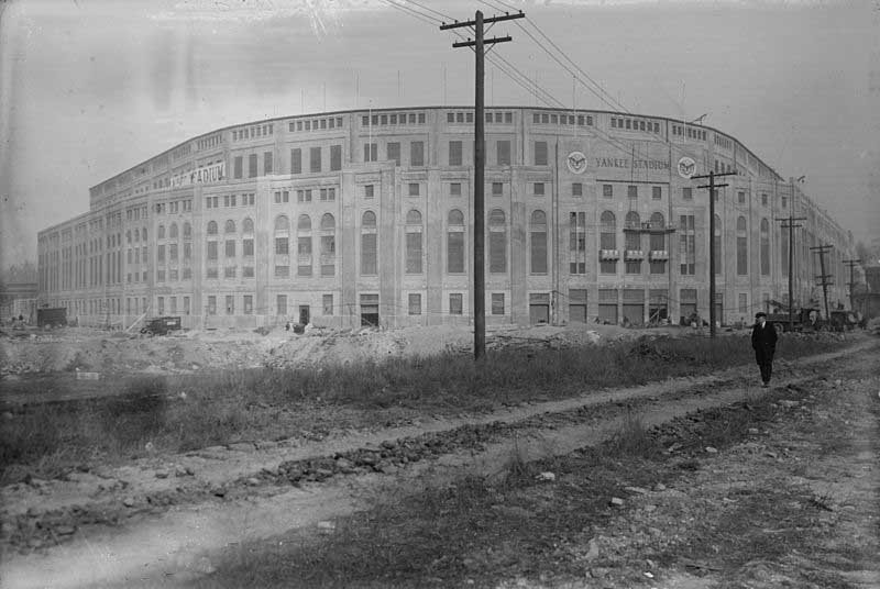 Yankee Stadium opened April 18, 1923. (Source: Library of Congress/Wikimedia Commons)