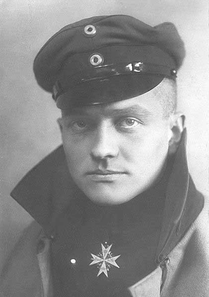 Manfred von Richtofen, better known as the Red Baron, was a German World War I flying ace who was shot down April 21, 1918. (Source: Wikimedia Commons)