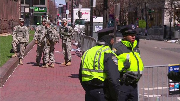 Officials said a heightened presence of police, as well as the National Guard, could be expected in Boston for at least a few days. (So